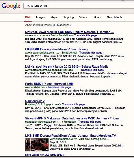 Meramal Juara Lks Smk Tingkat Nasional 2013 Lewat Google Blog Pendidik