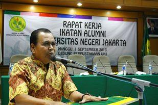 PR III UNJ Fakhruddin Arbach, mewakili Rektor UNJ