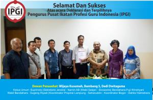 Poster Pengurus IPGI