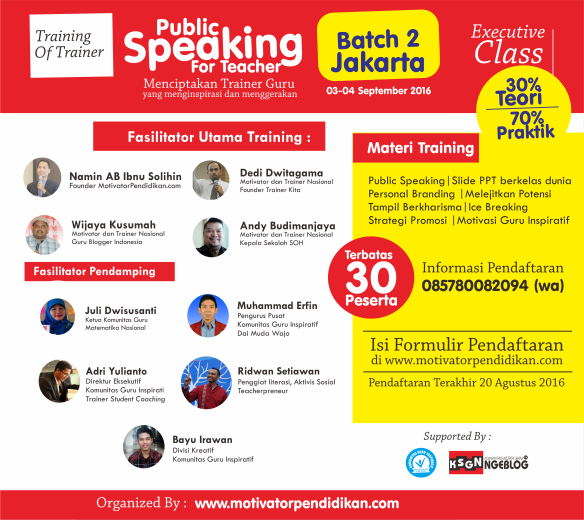 Poster Iklan Public Speaking For Teacher